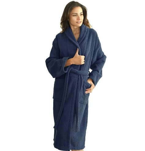Winchester 100% Cotton Plush Bathrobe by Birch Lane™